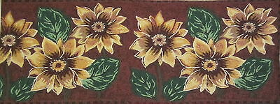 Country Yellow Sunflower Trio Tapestry Table Runner 13 x 72