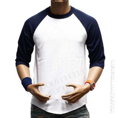 Men/'s Baseball 3//4 Sleeve T-Shirt Crew Fashion CAMO Sports Hipster Jersey Raglan