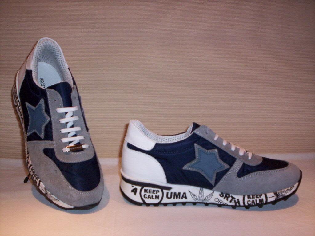 Frankie Model scarpe sportive casual scarpe da ginnastica casual sportive Made in Italy uomo pelle camoscio 6c9683