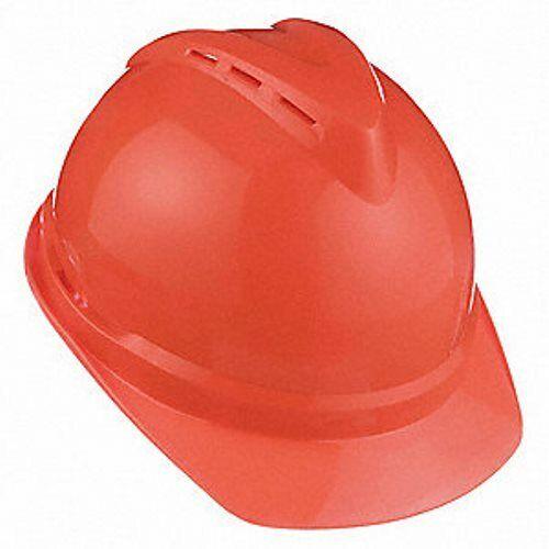 MSA 10034035 V-Gard 500 Vented Cap Hard Hat Fas-Trac Suspension Hi-Viz N