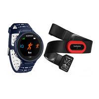 Garmin Forerunner 630 Touchscreen Gps Running Watch Midnight Blue Bundle on Sale
