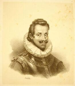 Jean-Baptiste-Mauzaisse-1784-1844-Lithografie-Portraet-Anfang-XIX-E-Jh