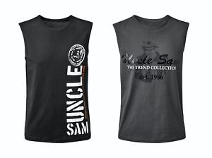 MLXl Titre Sam Muscle Sur Uncle Afficher D'origine Nouveau Aisselle Taille Shirt Tank Détails Top Le c3AjL4RqS5