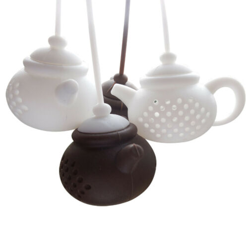 Durable Teapot Shape Tea Infuser Strainer Silicone Bag Leaf Filter Diffuser 2019