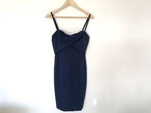 BNWT-Kookai-Dress-Size-38-Size-10-Navy-Blue-Cocktail-Dress-Bodycon-Fitted