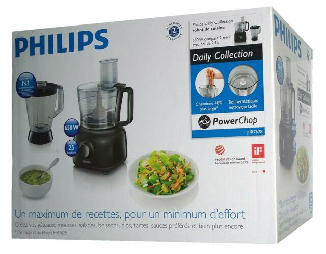 Philips HR7628/90 Daily Collection Küchenmaschine Schwarz 650 Watt