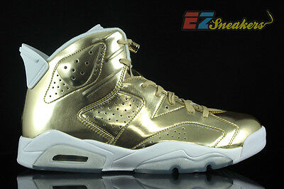 Air Jordan 6 Retro Pinnacle - SIZE 11- NEW - 854271-730 Metallic Gold VI White