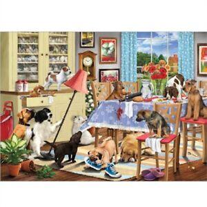 Puzzle 1000 Pezzi Cani Nella Sala Da Pranzo Nuovo Di Zecca Ebay