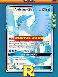 Articuno GX Pokemon TCG Online DIGITAL ptcgo in Game Card Shiny SV54