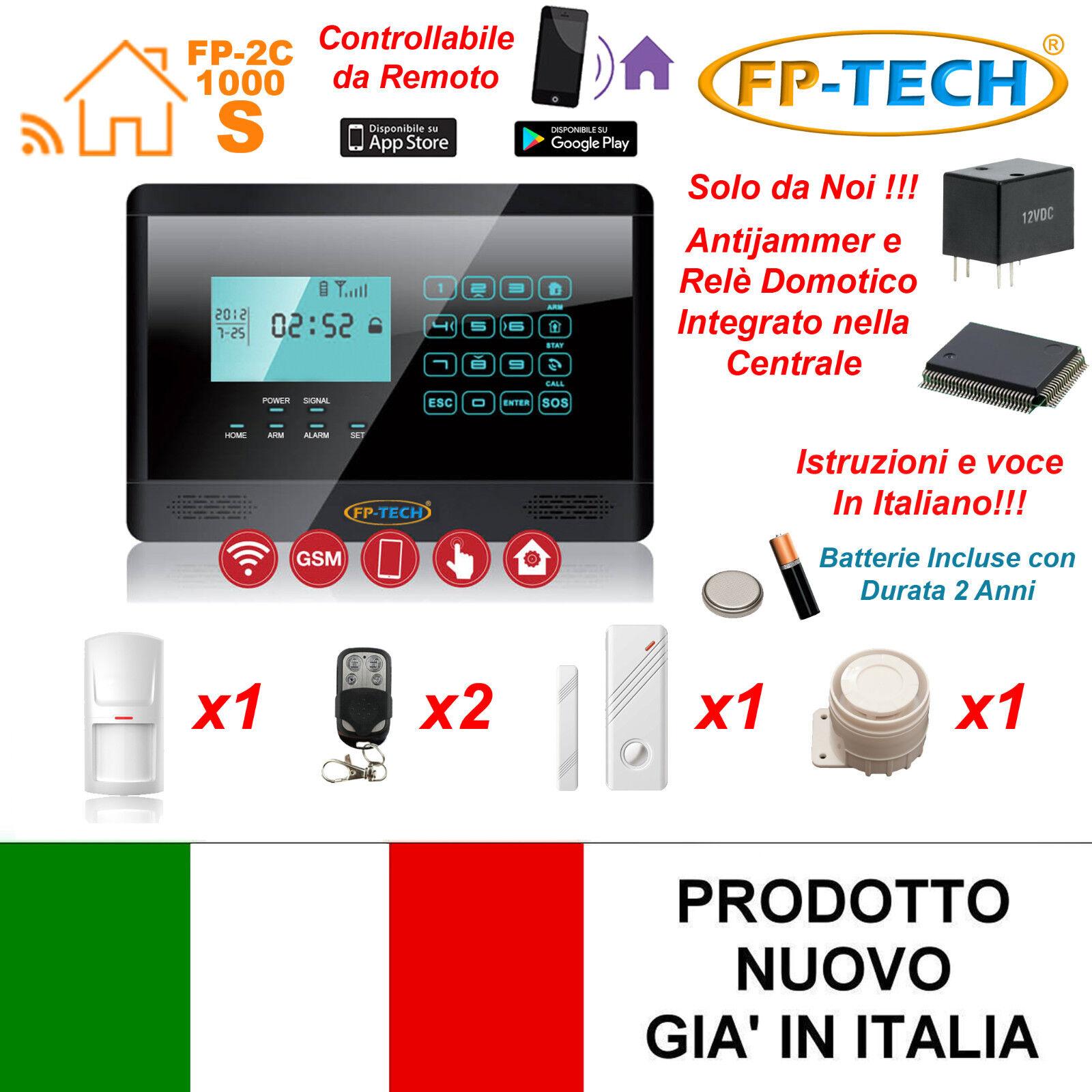 Antirrobo Alarma Táctil Casa Combinador Gsm Inalámbrico No Cables Fp M2e Negro