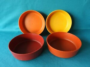 3af76fd5baa2 Details about Vintage Set of 4 Tupperware Little Wonders 6 oz. Snack Bowls  4 1/4