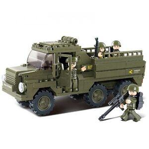 SLUBAN Bausteine ARMY Armee Truppenfahrzeug Truck 230 Teile NEU B0301
