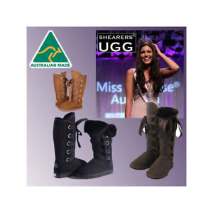e39a6d261ac Details about Genuine HAND-MADE Australia SHEARERS UGG Sheepskin Boots Tall  and Short - ROXY