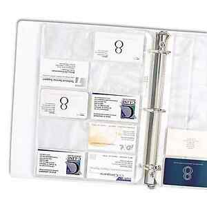 Business card holder binder 40 sheets pages clear sleeves for Business card holder sheets