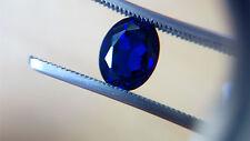 Oval Cut 9 x 7 mm Dark blue Lab Created Sapphire Loose Gemstone