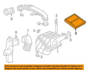 mercedes mercedes benz oem clk320 engine air cleaner filter element rh ebay com 2001 Mercedes CLK 320 2010 Mercedes CLK 320