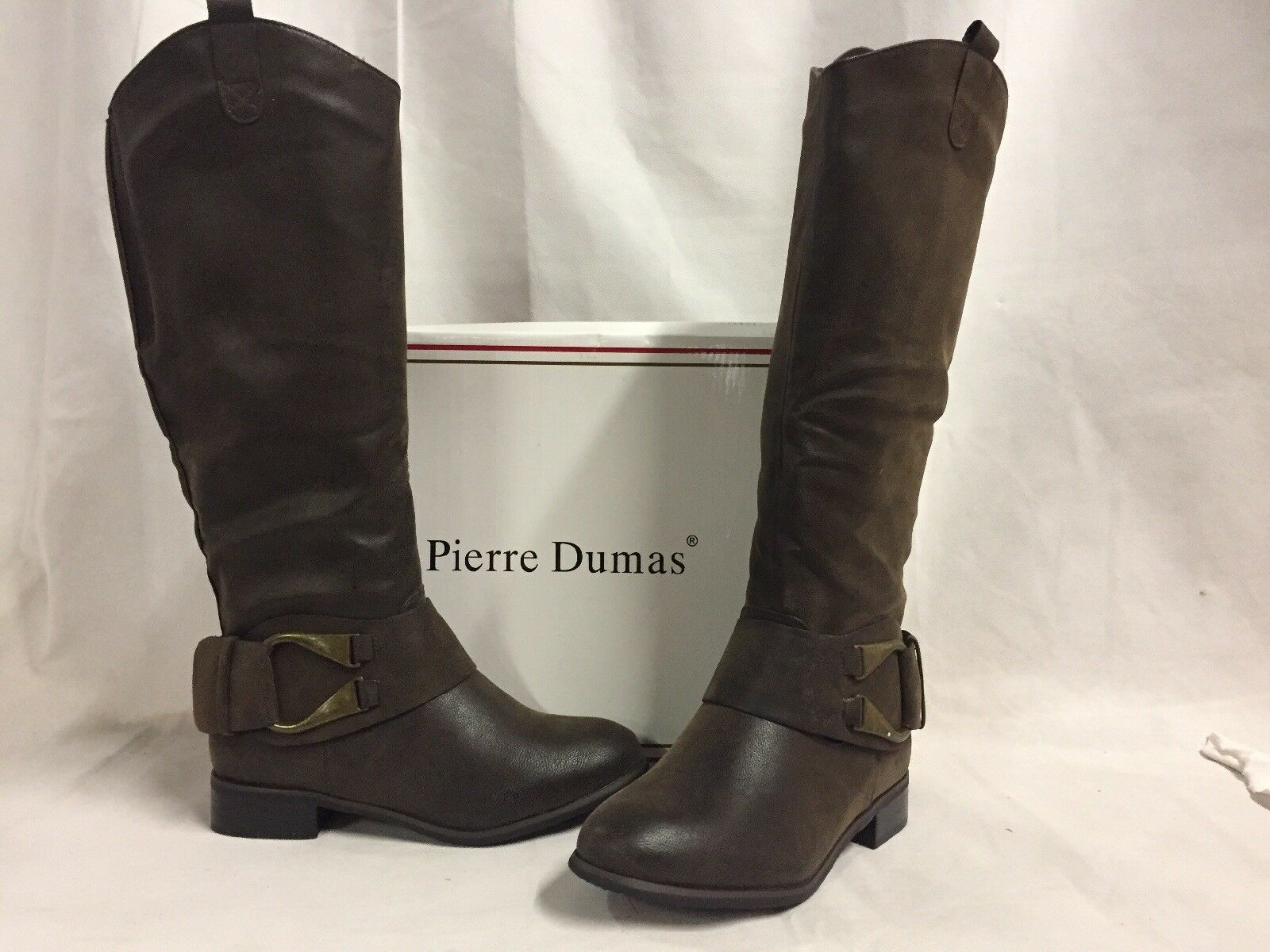 Pierre Dumas EMERSON Women's Brown Dress ridding Boots, Size 6 M