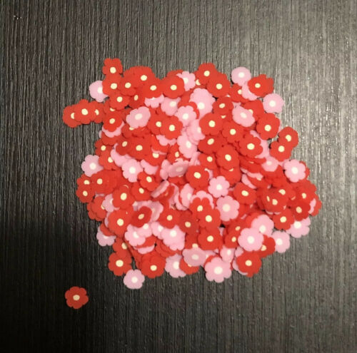 Red Pink Daisy Clay Sprinkles For Resin Slime Nails Decoden Crafts 10g