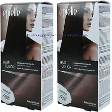 2X Natural Brown Hair Color for Women Epielle Permanent Hair Dye Ammonia-Free
