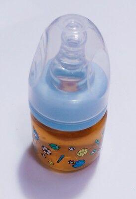 2oz Sealed Reborn Orange Smoothie Bottle w//NO HOLE NIPPLE Preemie Size!
