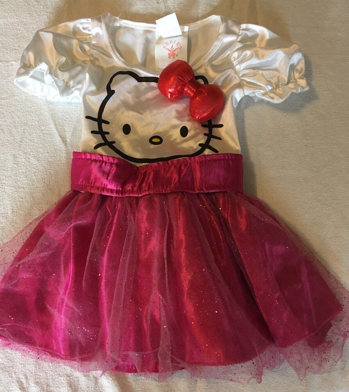 Adult Hello Kitty Costume Licensed Pink Tutu Style Dress Headpiece LAST 1