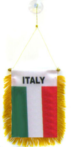 """Wholesale lot 12 Italy Mini Flag 4/""""x6/"""" Window Banner w// suction cup"""