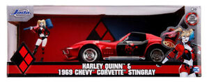 DC-Comics-Chevy-Corvette-Stingray-1969-Harley-Quinn-Figure-1-24-Jada-31196