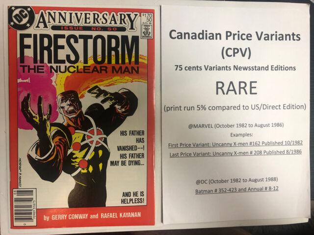 Firestorm (1986) # 50 (NM) Canadian Price Variant (CPV) !