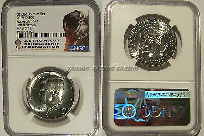 2019 D 50c Kennedy ProofLike NGC MS 67 PL ROCKET SHIP SET EARLY Releases
