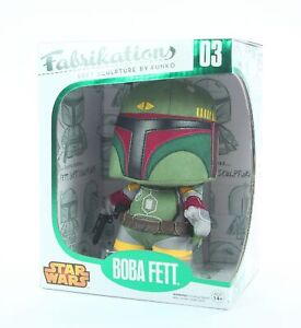 "STAR WARS villain BOBA FETT 6"" plush sculpture toy Funko Fabrikations - NEW!"