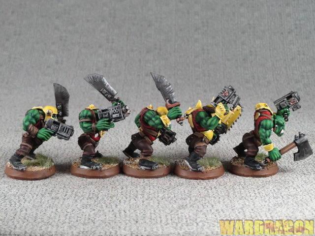 25mm Warhammer 40K 40K 40K WDS painted Orks Trukk Boyz g6 527706
