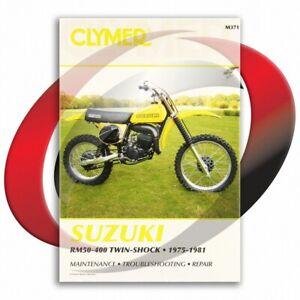 1975-1980-Suzuki-RM125-Repair-Manual-Clymer-M371-Service-Shop-Garage