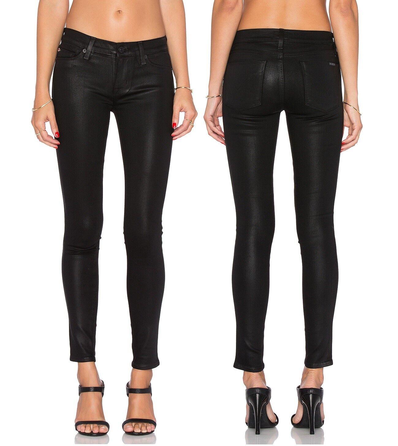 New Hudson Brand damen Krista Faux Leather Super skinny Stretchy Denim Jeans