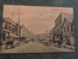 1917 Liberty Main Street Sullivan County New York NY Catskills Post Card