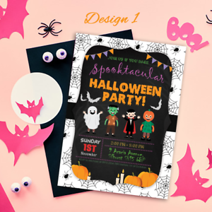 Personalised Halloween Party Invitations Thank You Cards Kids Trick Or Treat Ebay