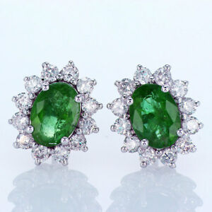 1-84CT-Emerald-and-Diamond-Earrings-18K-White-Gold