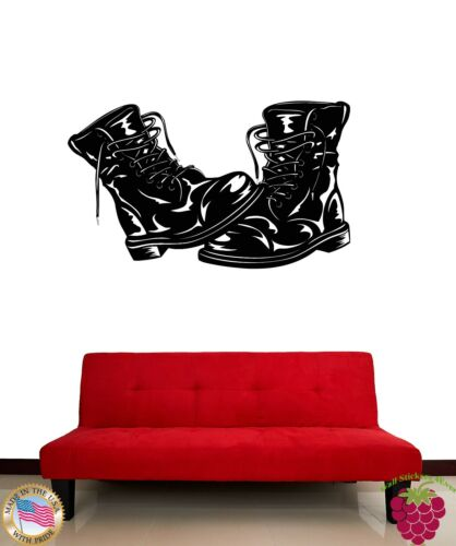 Wall Stickers Vinyl Decal Army Footwear Military Boots z1180