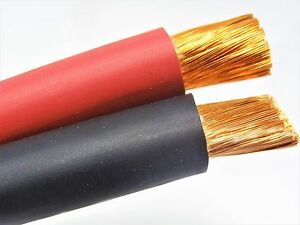 1 awg welding cable wire red black sae j1127 copper car battery 22 AWG Wire image is loading 1 awg welding cable wire red black