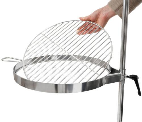 Grillrost mit Erdspieß BBQ-Toro Edelstahl Feuertonne Ø46 cm Set aus Feruertonne