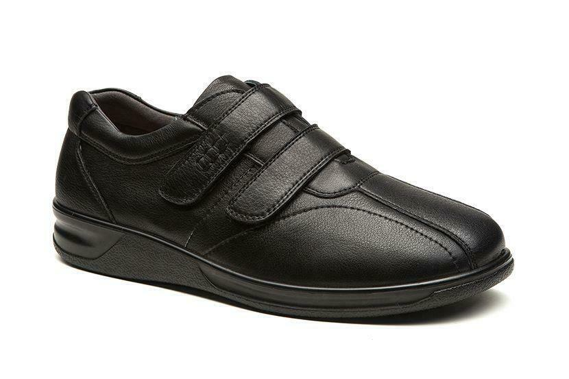 Mens Wide Fit Grunwald A-704 Leather Upper Shoes 4E Width
