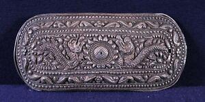 19th Century Asiatika: Indien & Himalaya Silver Tibetian Belt Buckle Internationale Antiq. & Kunst