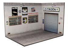 Diorama présentoir Garage Atelier Citroën (3 faces)  - 1/24ème - #24-3-G-H-I-002