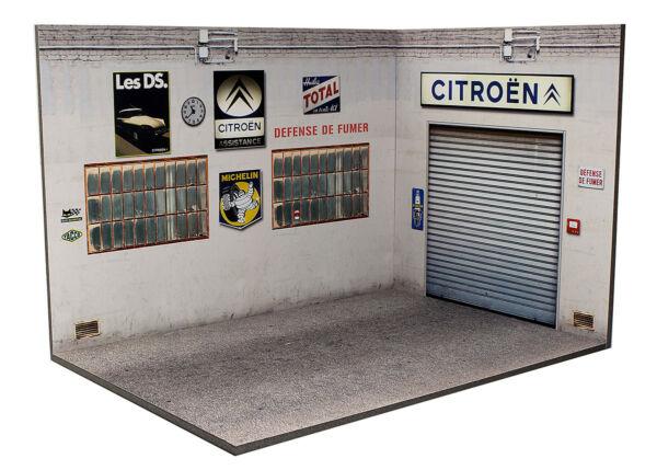 100% De Qualité Diorama Présentoir Garage Atelier Citroën (3 Faces) - 1/24ème - #24-3-g-h-i-002
