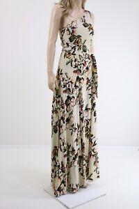 Gestuz-White-Rose-Print-Maxi-One-Shoulder-Floral-Long-Dress-UK-8-10-EU-38