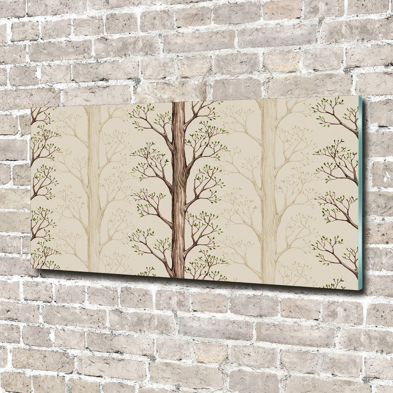 Acrylglas-Bild Wandbilder Druck 140x70 Deko Blaumen & Pflanzen Bäume