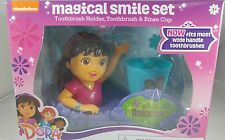 Dora the Explorer Friends Magical Smile Set: Toothbrush, Holder, Rinse Cup, New