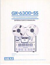Akai  Bedienungsanleitung user manual owners manual  für GX-630 D- SS