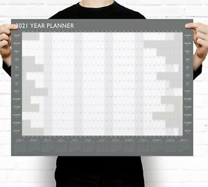 2021 Year Wall Planner ~ Yearly Annual Calendar Chart A2 Size Large