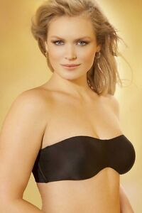 84abdd56a66 Image is loading Lilyette-Tailored-Strap-Strapless-Minimizer-Black-Bra-Size-