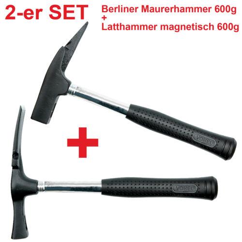2er SET Berliner Maurerhammer Latthammer magnetisch 600g Dachdecker Zimmermann